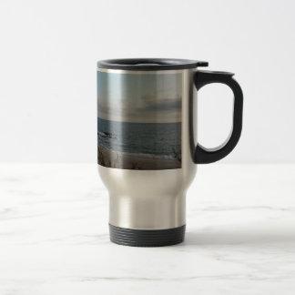 lonely beach travel mug