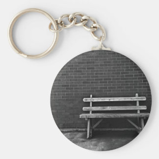 Lonely Bench Basic Round Button Key Ring