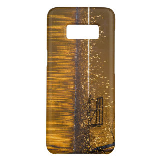 Lonely bench by the lake in the golden light Case-Mate samsung galaxy s8 case