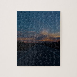 Lonely Bike Path Jigsaw Puzzle