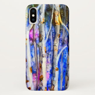 Lonely Birch Trees Poetry Watercolor Case