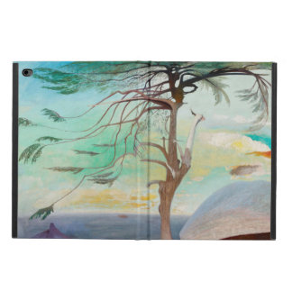 Lonely Cedar Tree Landscape Painting