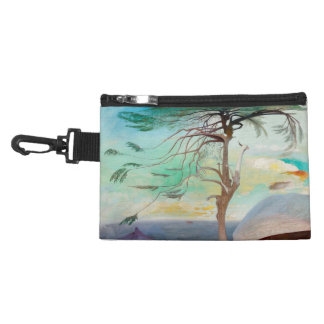 Lonely Cedar Tree Landscape Painting Accessories Bag