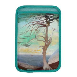 Lonely Cedar Tree Landscape Painting iPad Mini Sleeve