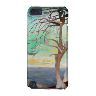 Lonely Cedar Tree Landscape Painting iPod Touch (5th Generation) Cover