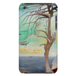 Lonely Cedar Tree Landscape Painting iPod Touch Covers