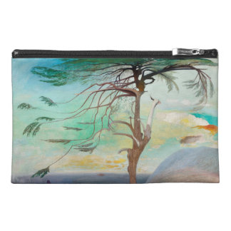 Lonely Cedar Tree Landscape Painting Travel Accessory Bags