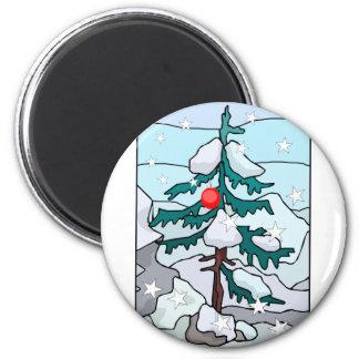Lonely Christmas Tree Fridge Magnets