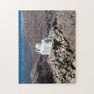 Lonely church in Greek mountains Jigsaw Puzzle
