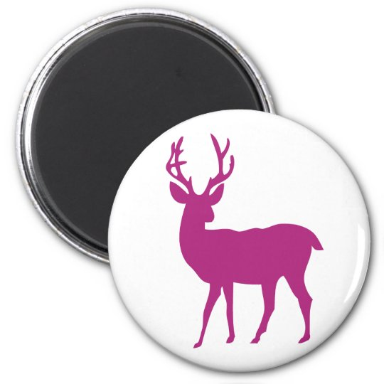 lonely deer silhuette magnet
