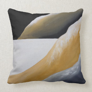 Lonely Desert Floor Abstract Accent Pillow