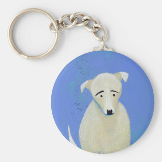 Lonely Dog - fun painting cell phone art Key Chain