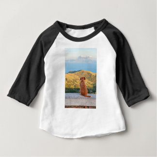 Lonely dog watching on Gibraltar strait Baby T-Shirt