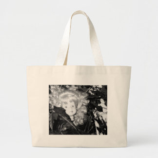 Lonely Doll Head Large Tote Bag