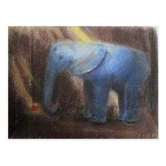 lonely elephant postcard