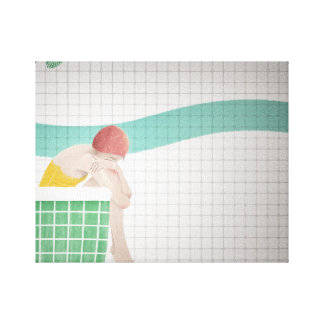 lonely girl in the shower canvas print