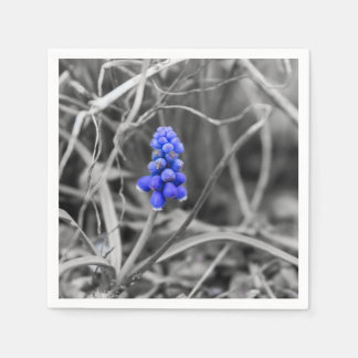 Lonely Grape Hyacinth Select Color Disposable Serviettes