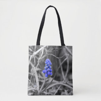 Lonely Grape Hyacinth Select Color Tote Bag