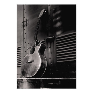 Lonely Guitar Photo Print