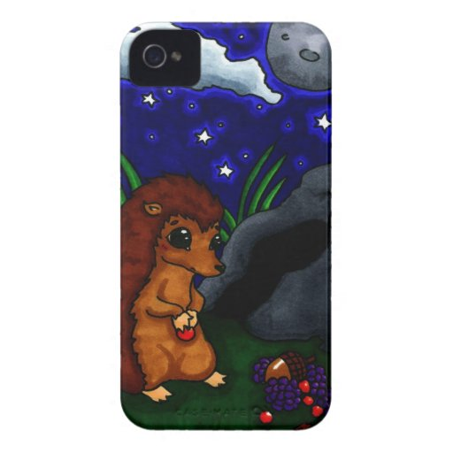 Lonely Hedgehog at night Blackberry Bold Cover