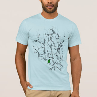 lonely leaf baby blue T-Shirt