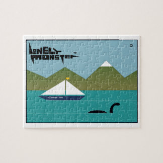 Lonely Monster and Yacht Jigsaw Puzzle