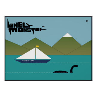 Lonely Monster and Yacht Poster