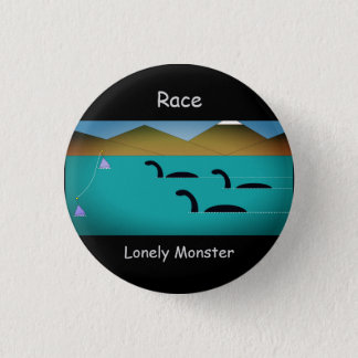 """Lonely Monster Cartoon Badge (1.25"""")"""