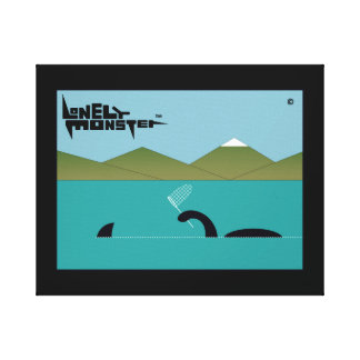 Lonely Monster Sharkhunter Canvas Print
