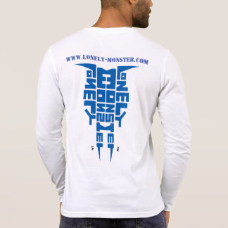 Lonely Monster Tribal Totem Blue Logo and website T-Shirt