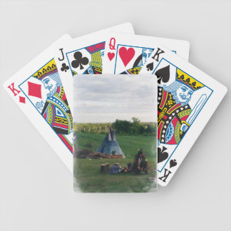 Lonely Native American Indian Bicycle Playing Cards