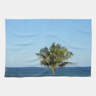 LONELY PALM TREE DISH TOWEL