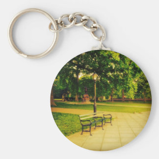 Lonely Park Bench Key Ring