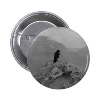 Lonely Raven 6 Cm Round Badge