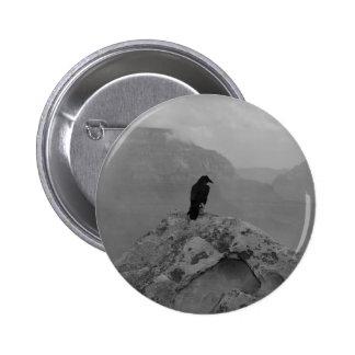 Lonely Raven 6 Cm Round Badge