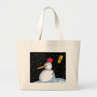Lonely Snowman Large Tote Bag