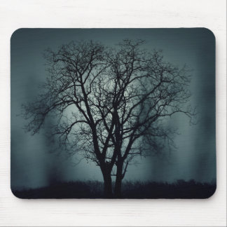 Lonely Tree at Night Mousepad