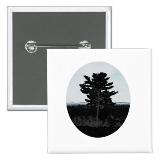 Lonely Tree 15 Cm Square Badge