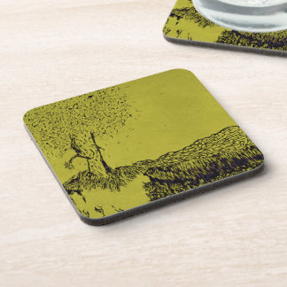 Lonely Tree Drink Coasters