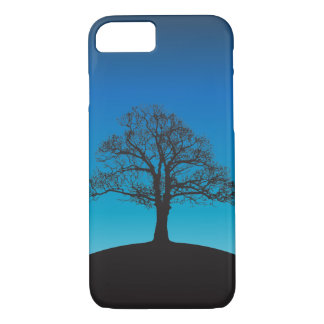 Lonely tree in dusk iPhone 7 case