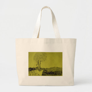 Lonely Tree Large Tote Bag