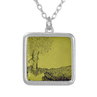 Lonely Tree Silver Plated Necklace