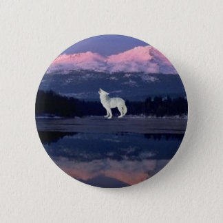 Lonely Wolf 6 Cm Round Badge