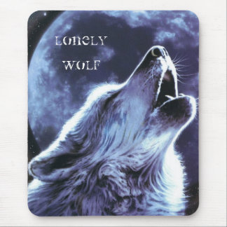 Lonely Wolf Mouse Pad