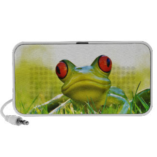 Lonesome Frog In The Grass Portable Speaker