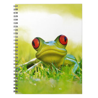 Lonesome Frog In The Grass Spiral Notebook