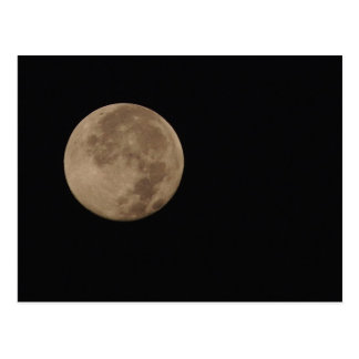 Lonesome - full moon in an dark sky postcard