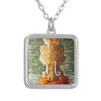 Lonessia V1 - violin beauty Silver Plated Necklace