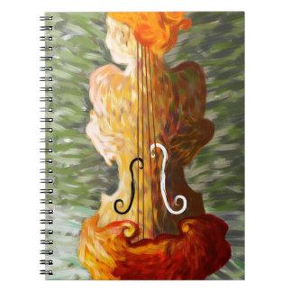 Lonessia V1 - violin beauty Spiral Notebook