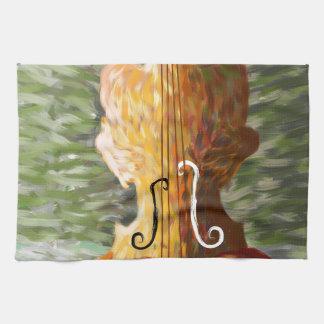 Lonessia V1 - violin beauty Tea Towel